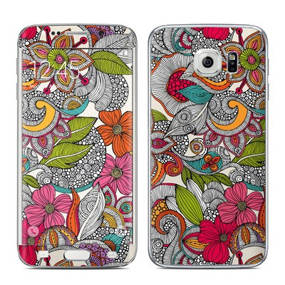 Samsung Galaxy S6 Edge Skin - Doodles Color