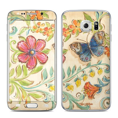 Samsung Galaxy S6 Edge Skin - Garden Scroll