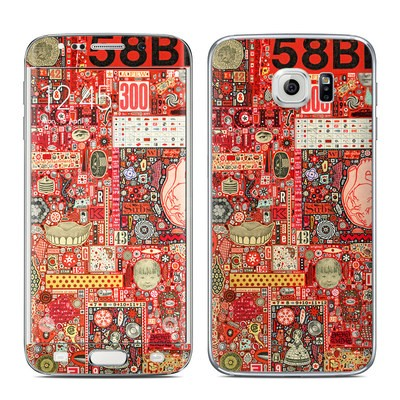 Samsung Galaxy S6 Edge Skin - Heart and Teeth