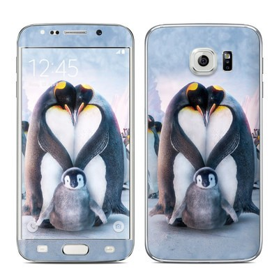 Samsung Galaxy S6 Edge Skin - Penguin Heart