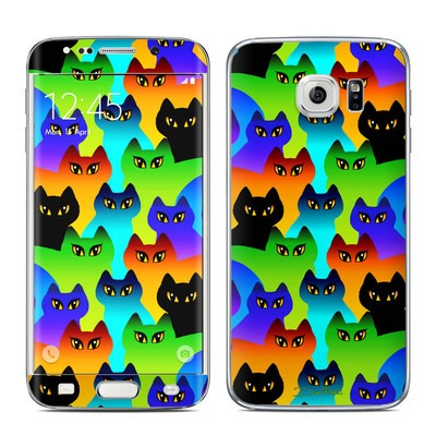 Samsung Galaxy S6 Edge Skin - Rainbow Cats