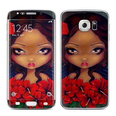 Samsung Galaxy S6 Edge Skin - Red Hibiscus Fairy