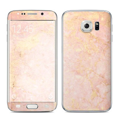 Samsung Galaxy S6 Edge Skin - Rose Gold Marble