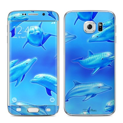 Samsung Galaxy S6 Edge Skin - Swimming Dolphins