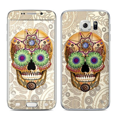 Samsung Galaxy S6 Edge Skin - Sugar Skull Bone