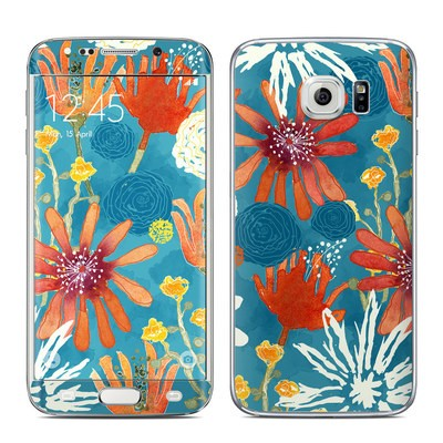 Samsung Galaxy S6 Edge Skin - Sunbaked Blooms
