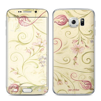 Samsung Galaxy S6 Edge Skin - Tulip Scroll