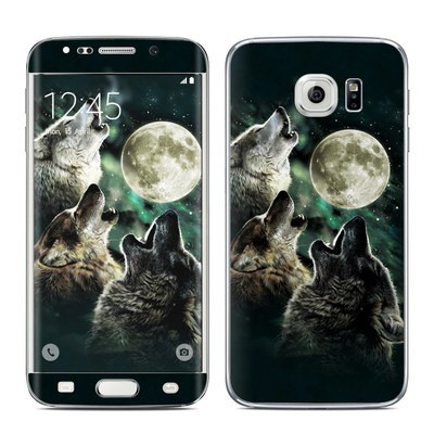 Samsung Galaxy S6 Edge Skin - Three Wolf Moon