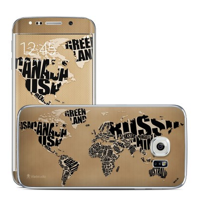 Samsung Galaxy S6 Edge Skin - Type Map