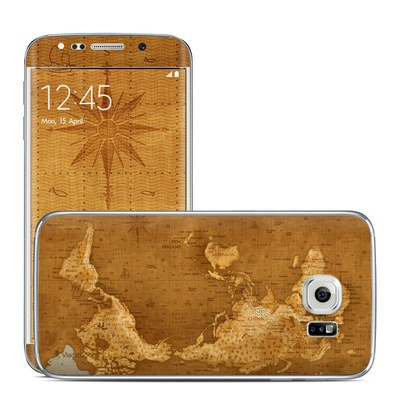 Samsung Galaxy S6 Edge Skin - Upside Down Map