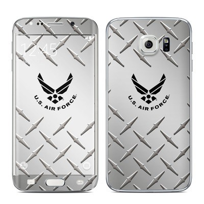 Samsung Galaxy S6 Edge Skin - USAF Diamond Plate