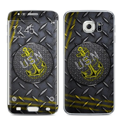 Samsung Galaxy S6 Edge Skin - USN Diamond Plate