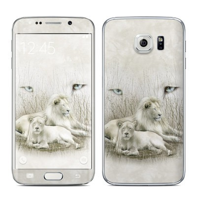 Samsung Galaxy S6 Edge Skin - White Lion