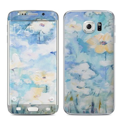 Samsung Galaxy S6 Edge Skin - White & Blue