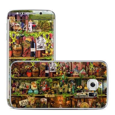 Samsung Galaxy S6 Edge Skin - Wine Shelf