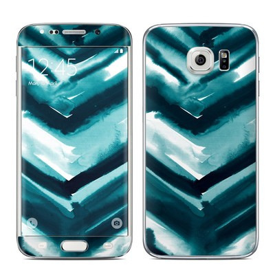 Samsung Galaxy S6 Edge Skin - Watercolor Chevron