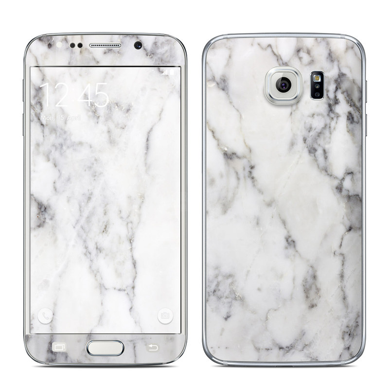 Samsung Galaxy S6 Edge Skin White Marble By Marble