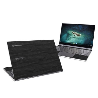 Samsung Galaxy Chromebook Skin - Black Woodgrain