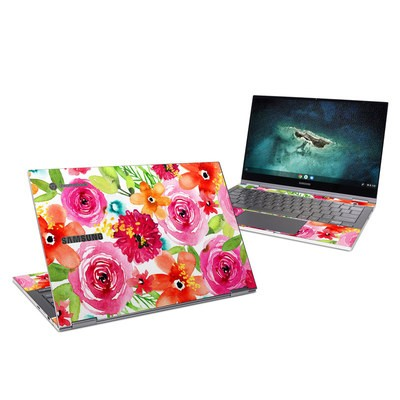Samsung Galaxy Chromebook Skin - Floral Pop