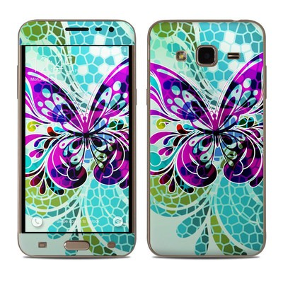 Samsung Galaxy J3 Skin - Butterfly Glass