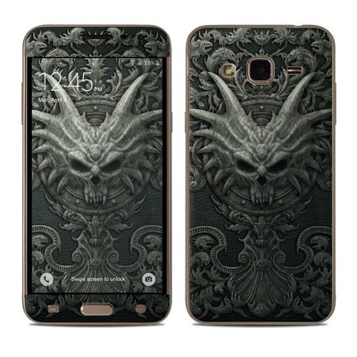 Samsung Galaxy J3 Skin - Black Book