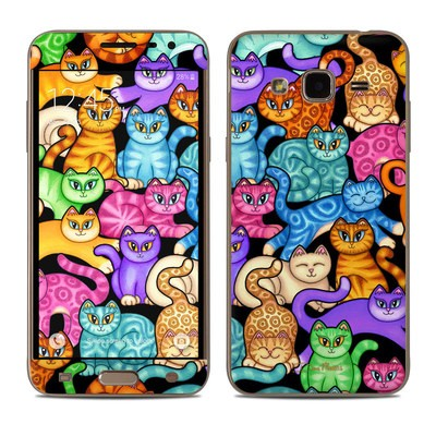 Samsung Galaxy J3 Skin - Colorful Kittens