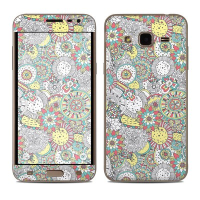 Samsung Galaxy J3 Skin - Faded Floral