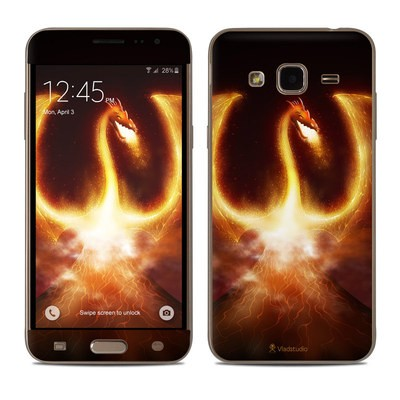 Samsung Galaxy J3 Skin - Fire Dragon
