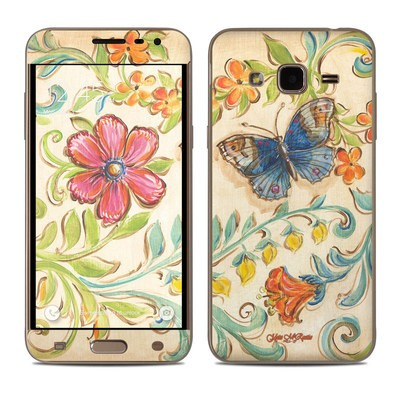 Samsung Galaxy J3 Skin - Garden Scroll