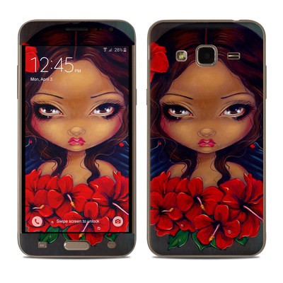 Samsung Galaxy J3 Skin - Red Hibiscus Fairy