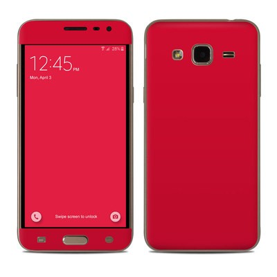 Samsung Galaxy J3 Skin - Solid State Red