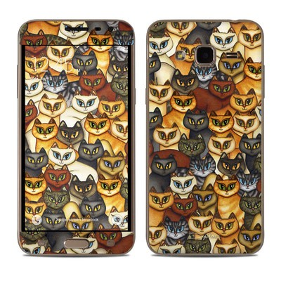Samsung Galaxy J3 Skin - Stacked Cats