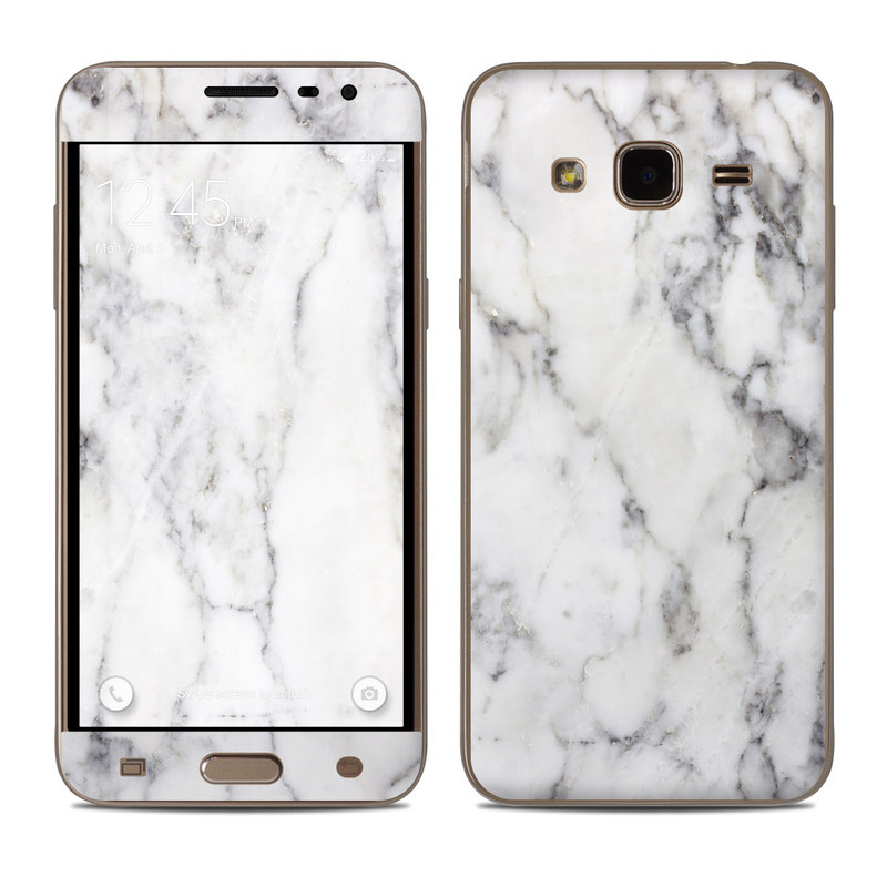 best cheap 63102 d3c96 Samsung Galaxy J3 Skin - White Marble