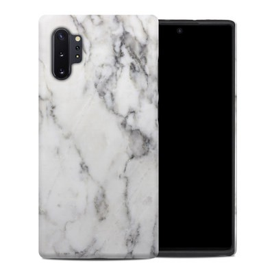 Samsung Galaxy Note 10 Plus Hybrid Case - White Marble