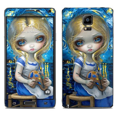 Samsung Galaxy Note 4 Skin - Alice in a Van Gogh