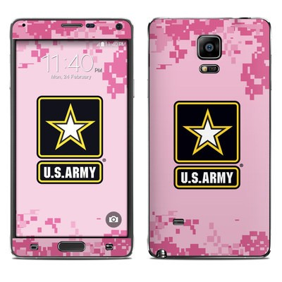Samsung Galaxy Note 4 Skin - Army Pink