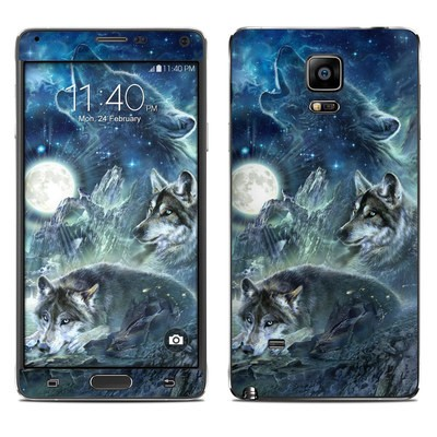 Samsung Galaxy Note 4 Skin - Bark At The Moon