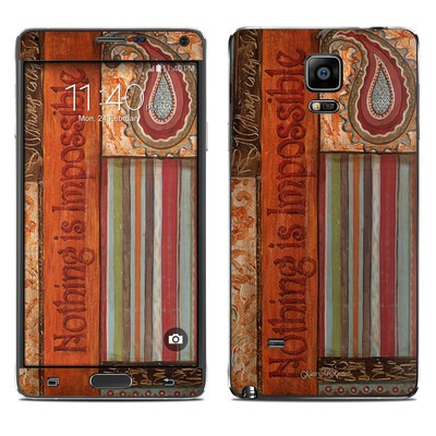 Samsung Galaxy Note 4 Skin - Be Inspired