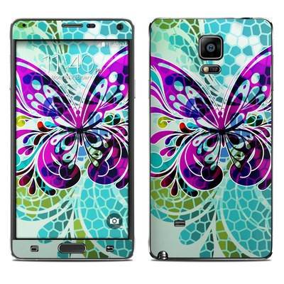 Samsung Galaxy Note 4 Skin - Butterfly Glass