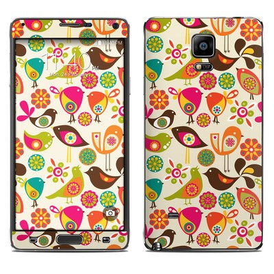 Samsung Galaxy Note 4 Skin - Bird Flowers