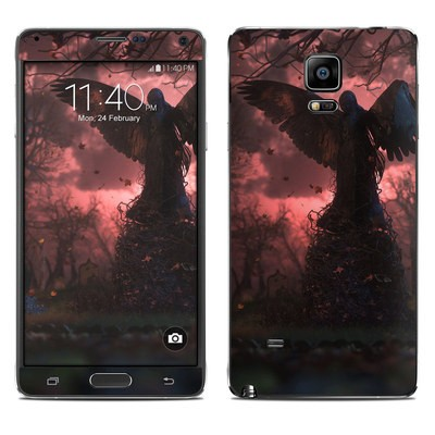 Samsung Galaxy Note 4 Skin - Black Angel