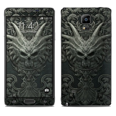 Samsung Galaxy Note 4 Skin - Black Book
