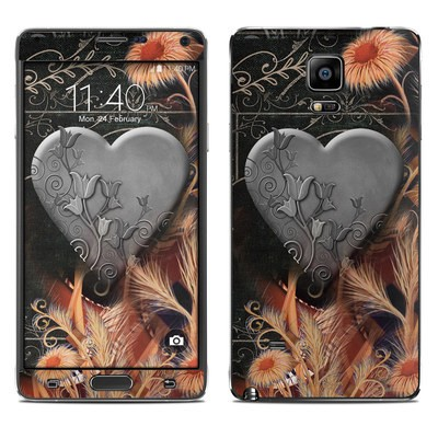 Samsung Galaxy Note 4 Skin - Black Lace Flower