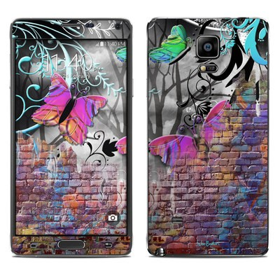 Samsung Galaxy Note 4 Skin - Butterfly Wall