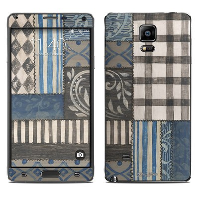 Samsung Galaxy Note 4 Skin - Country Chic Blue