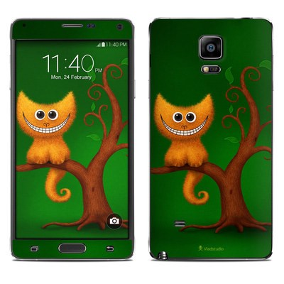 Samsung Galaxy Note 4 Skin - Cheshire Kitten
