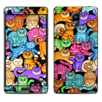 Samsung Galaxy Note 4 Skin - Colorful Kittens