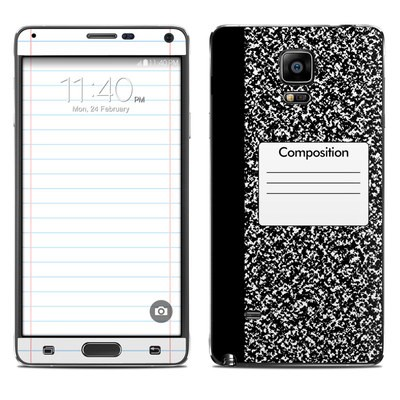 Samsung Galaxy Note 4 Skin - Composition Notebook