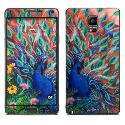 Samsung Galaxy Note 4 Skin - Coral Peacock
