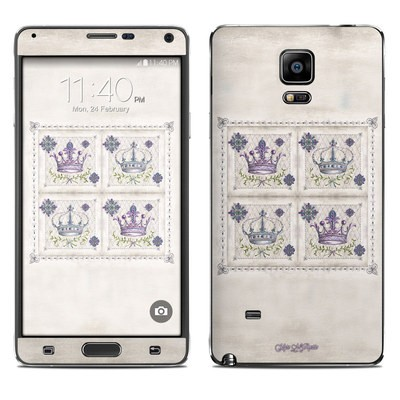 Samsung Galaxy Note 4 Skin - Purple Crown